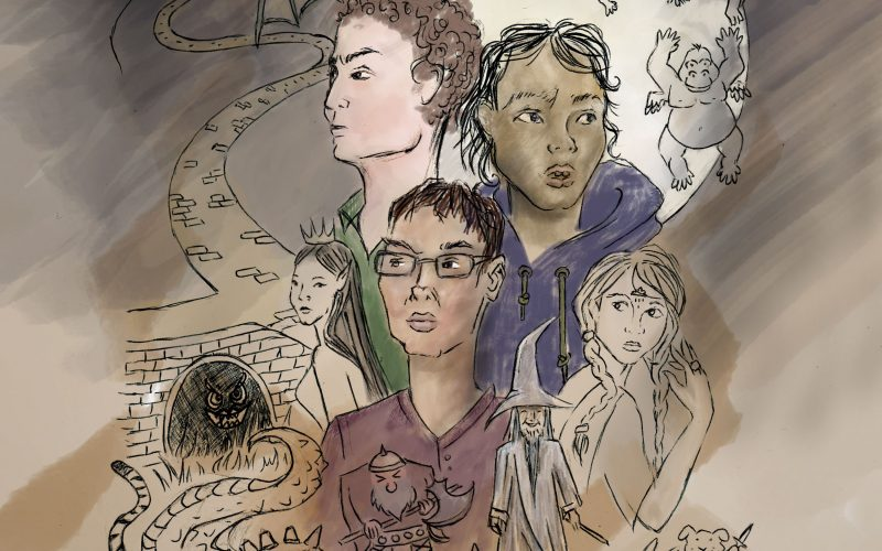 Cover Art for Episode 1: The Quest For Dryland - illustration by Rosina Al-Shaater
